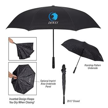 "48"" Arc Rain Drops Inversion Umbrella"