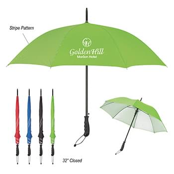 "46"" Arc Stripe Accent Panel Umbrella"