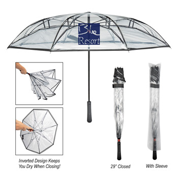 "46"" Arc Clearwater Inversion Umbrella"