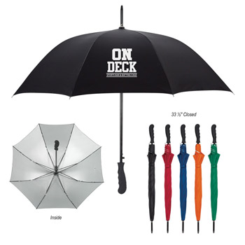 "47"" Arc Silver Lining Umbrella"