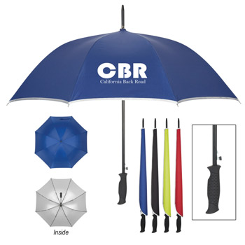 "48"" Arc Silver Accent Umbrella"