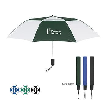 "44"" Arc Telescopic Folding Vented Umbrella"