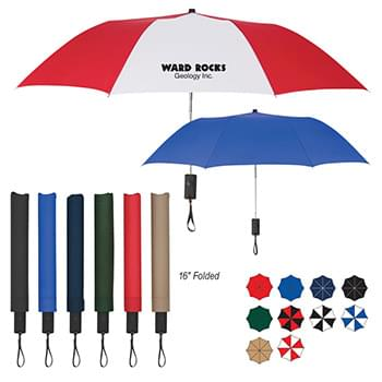 "44"" Arc Auto-Open Telescopic Folding Umbrella"