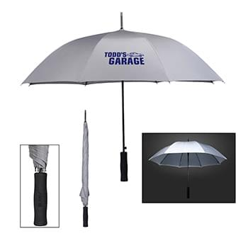 "46"" Arc Rain Delay Reflective Umbrella"