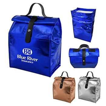 Metallic Non-Woven Roll Lunch Bag