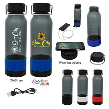 "23 Oz. Carter Tritanâ""¢ Bottle With Wireless Charger And Power Bank"