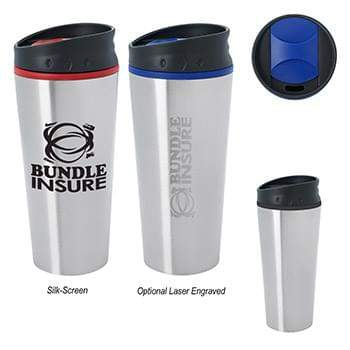 15 Oz. Stainless Steel Diamond Mug
