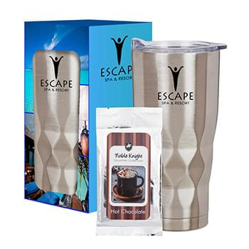 22 Oz. Vortex Stainless Steel Tumbler With Cocoa And Custom Window Box