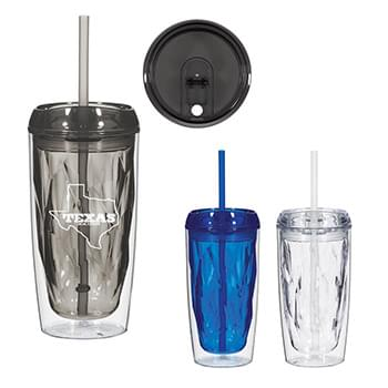 16 Oz. Glacier Tumbler With Straw