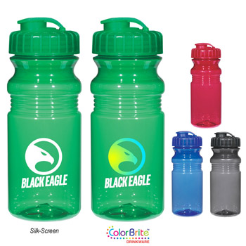 Poly-Clear™ 20 Oz. Fitness Bottle With Super Sipper Lid
