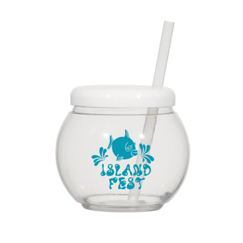 46 Oz. Fish Bowl Cup With Straw