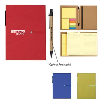 Notebook With Sticky Notes And Pen