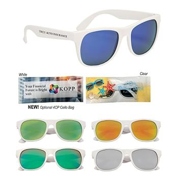 Rubberized Mirrored Malibu Sunglasses