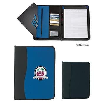 Large Microfiber Portfolio With Embossed Pvc Trim