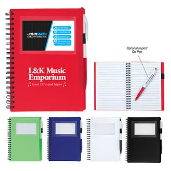 Spiral Notebook With ID Window