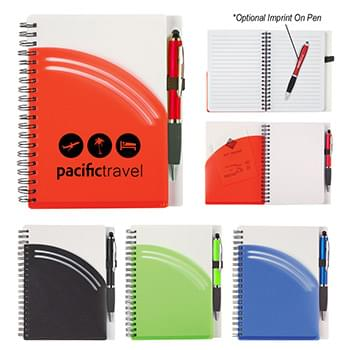 "5"" x 7"" Rainbow Spiral Notebook With Pen"