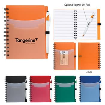 "5"" x 7"" Tri-Pocket Notebook & Pen"