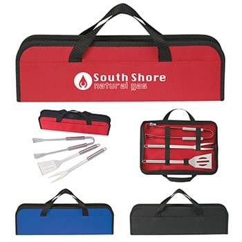 3 Piece BBQ Set In Case