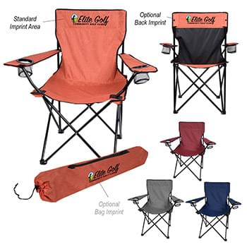 HEATHERED FOLDING CHAIR WITH CARRYING BAG