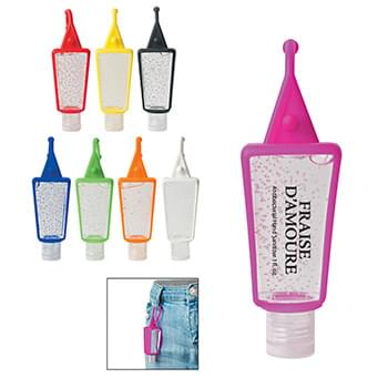 1 Oz. Hand Sanitizer In Silicone Holder