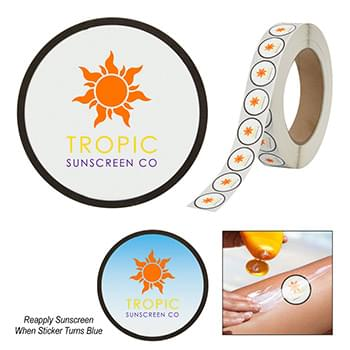 Sunburn Alert Circle Sticker