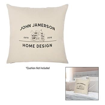 "16"" x 16""  Cotton Canvas Pillow Case"