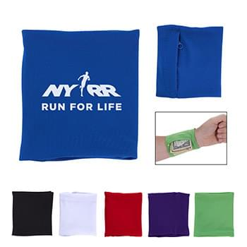 Stretch Wristband With Pocket