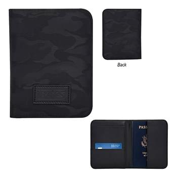 Midnight Camo Passport Holder