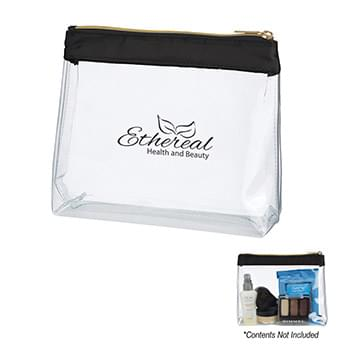 Sadie Satin Clear Cosmetic Bag