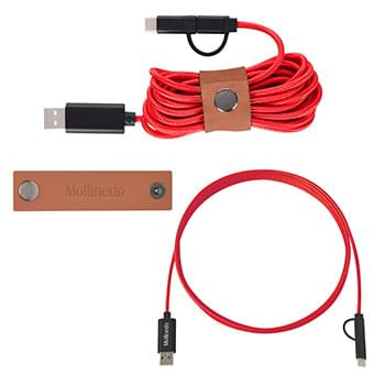 10' Charging Cable & Snap Wrap Kit