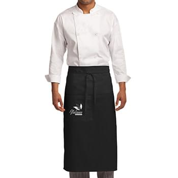 Port Authority® Easy Care Full Bistro Apron with Stain Release