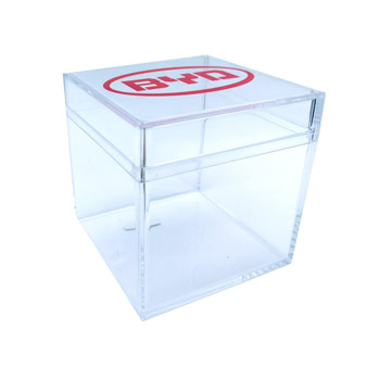 Cube Shaped Acrylic Container Empty