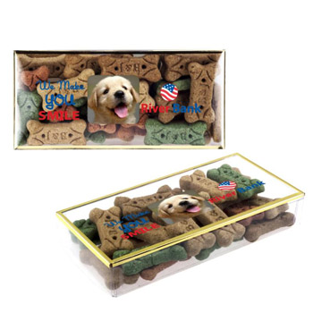 Dog Bones in a Gold Rimmed Box