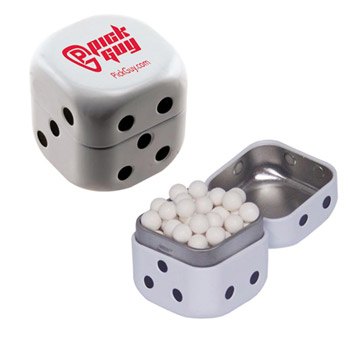 Dice Mint Tin - Signature Peppermints, Red Hots