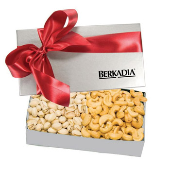 The Executive Gift Box - Almond Tea Cookies & Mini Chocolate Pretzels, Cashews & Pistachios, Chocolate Covered Almonds &
