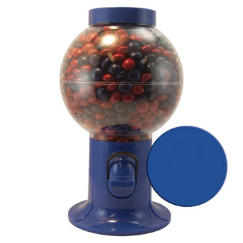 Gumball Machine - Corporate Color Chocolates, Corporate Color Jelly Beans