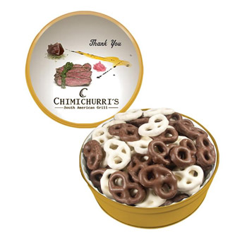 The Grand Tin - Mini Chocolate Pretzels