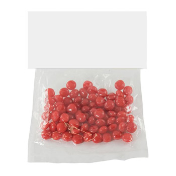 Candy Bag With Header Card (Small) - Red Hots, Jelly Beans, Gum
