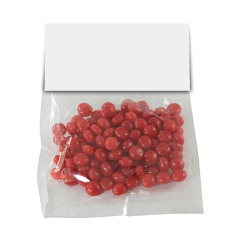Candy Bag With Header Card (Large) - Red Hots, Jelly Beans, Gum