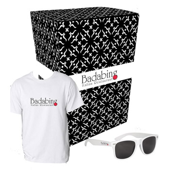 Gildan® T-Shirt And Sunglasses Combo Set With Custom Box