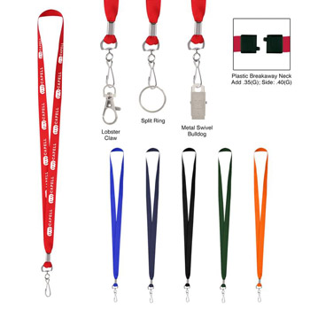 Polyester Lanyard With J-Hook