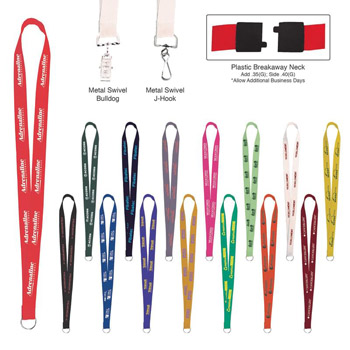 Sewn Screen Printed Polyester Value Lanyard