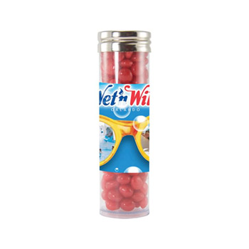 Gourmet Plastic Tube (Large) - Red Hots, Jelly Beans, Gum
