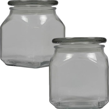 Medium Square Apothecary Jar with Empty