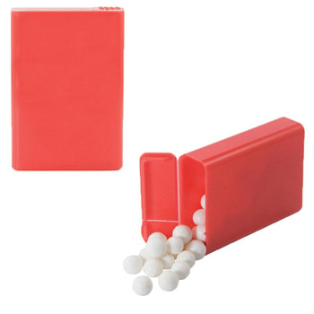 Flip Top Plastic Case with Signature Peppermints