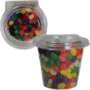 Safe-T-Fresh Round Container with Jelly Beans, Gummy Bears