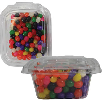 Safe-T-Fresh Square Container with SAFET-SQ Jelly Beans, Gummy Bears