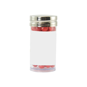 Gourmet Plastic Tube (Small) with Red Hots, Jelly Beans, Gum