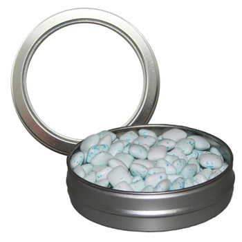 Candy Window Tin Short Round - Sugar-Free Gum