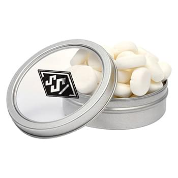 Candy Window Tin Short Round - Buttermints